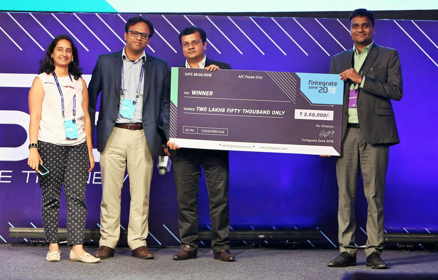 LendFoundry awarded as the No. 1 FinTech Startup at Fintegrate Zone 2018