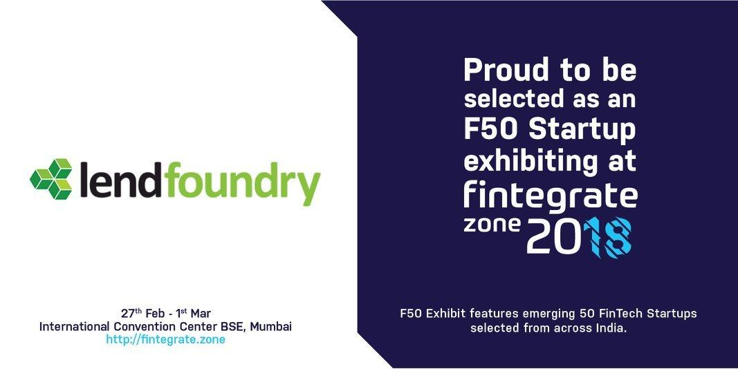 Fintegrate Zone 2018 Event LendFoundry - LendFoundry